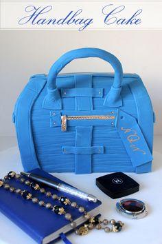 A step by step guide to make your own designer handbag cake