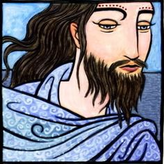 Manannan mac Lir, the Irish God of the Sea, fertility and eather.Theson of Llyr,he is often depicted ridinga chariot across the waves.Husband to Fand, he was the foster father of many gods, including Lugh. His Welsh counterpart is Manawyddan.
