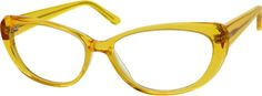 Order online, women yellow full rim acetate/plastic cat-eye eyeglass frames model #634622. Visit Zenni Optical today to browse our collection of glasses and sunglasses. #ZenniFashionChallenge  @zennioptical