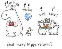 hippo birdie two ewe...Sandra Boynton