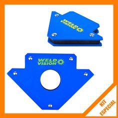 Kit Esquadros Magnéticos para Solda 10 e 30 Kg Weld Vision - 2 Peças