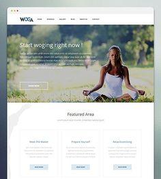 Premium Yoga/Gym WordPress Theme.