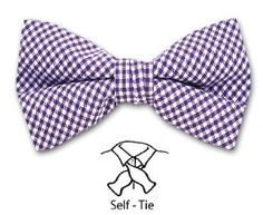 These cotton bowties are perfect for spring weddings.