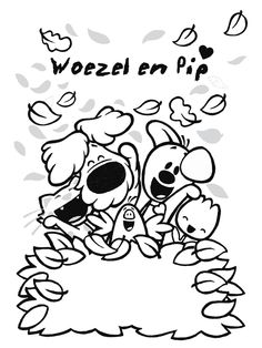 Kleurplaat Woezel en Pip - Kleurplaten.nl Easy Fall Crafts, Crafts For Kids To Make, Fall Preschool, Autumn Activities, Creative Kids, Kids And Parenting, Embroidery Patterns, Coloring Pages, Party Themes