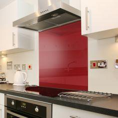 Deep Red - Colour Glass Splashback 90cm x 75cm