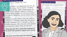 Anne Frank Diary Extract With Questions - News From The Outside World A 1-page quick read comprehension - taken as an extract from the famous Anne Frank's diary. Anne talks about the news she has heard from the outside world about the treatment of Jewish people, including many of their friends. The activity completes by asking 2 comprehension quest... - www.tpet.co.uk - Classroom Resources by Teacher's Pet Comprehension Ks2, Comprehension Questions, Teacher's Pet, Being Used Quotes, School Closures, Quick Reads, Thing 1, Outside World, Anne Frank
