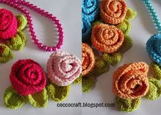 This Knit Little Rose Flower will look beautiful in a hairstyle, after you attach it to a hairpin. Or perhaps you could add it on a blanket or some other Free Knitted Flower Patterns, Leaf Knitting Pattern, Knitting Patterns Free, Free Knitting, Free Pattern, Knitted Poppies, Crochet Flowers, Crochet Motif, Knitting Basics