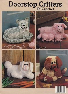 Doorstop Critters Leisure Arts Crochet Pattern by LucyGooseyDolls