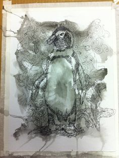 My first secret message image is about penguin thoughts. This age I Merged from chaos on the paper