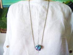Sale...Rainbow Quartz Necklace  Titanium Rainbow by NaturalGlam, $33.99