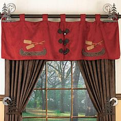 Canoe Valance - how about this for the window treatments?  .....