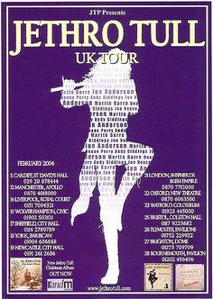 Jethro Tull - U.K. TOUR DATES Feb 2004 FLYER.