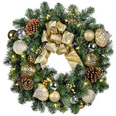 "Pre-Lit Versailles Wreath-26"""