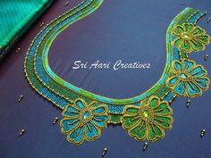 Hand Work Blouse Design, Simple Blouse Designs, Stylish Blouse Design, Fancy Blouse Designs, Bridal Blouse Designs, Blouse Neck Designs, Pattu Saree Blouse Designs, Blouse Patterns, Embroidery Neck Designs