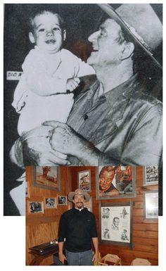 John Wayne convert to the Catholic religion. Here in this photo, holding grandson 2 yr. old Fr Mattew Munoz.