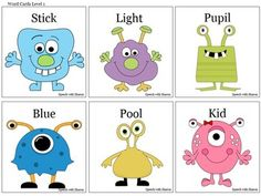 Free! Monster Multiple Meaning Words...60 Word Cards