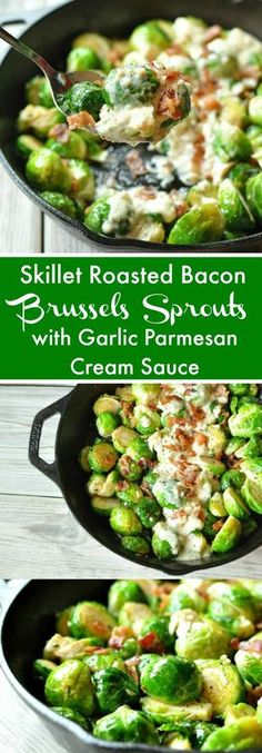 Skillet Roasted Bacon Brussels Sprouts with Garlic Parmesan Cream Sauce - Low Ca. CLICK Image for full details Skillet Roasted Bacon Brussels Sprouts with Garlic Parmesan Cream Sauce - Low Carb, Gluten Free Ketogenic Recipes, Low Carb Recipes, Diet Recipes, Cooking Recipes, Healthy Recipes, Ketogenic Diet, Vegetarian Cooking, Recipies, Vegetarian Recipes