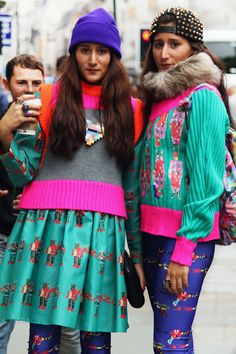 NZ Twins Nadia and Zehra at #LFW