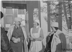 Volunteer nurses from Swedish red cross in Finland ready to do their part during Winter war 1939-1940