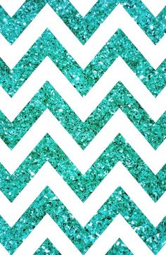 Teal blue glittery chevron