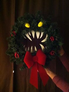 Christmas decor: Nightmare Before Christmas wreath