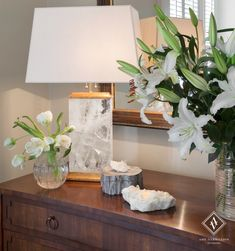 Amy Vermillion Interiors- Historic Charleston Home...solid rock crystal lamp.