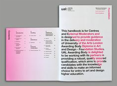 University of the Arts London Awarding Body Visual Identity Development - Baxter and Bailey