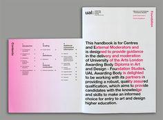 University of the Arts London Awarding Body Visual Identity Development - Baxter and Bailey