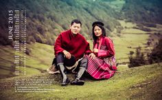 King and Queen of Bhutan in the local dress of Merak. #Bhutan #Himalayas