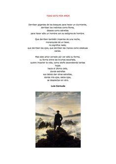 Poema de Neruda ilustrado con una obra de C. D. Friedrich, por Moisés Noguera.