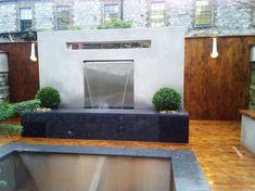 wasserfall im garten auenbereich wasser intergrieren - Wasserfall Im Garten Modern
