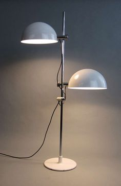 Carlo Bertoli and Piero Menichetti; Chromed and Enameled Metal Floor Lamp for Faver, 1970.