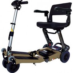 Free Rider USA  Luggie Standard  Compact Lightweight Foldable Scooter  4Wheel  Champagne -- Click the aids image to find out more