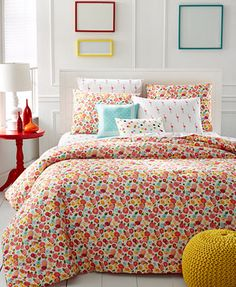 Martha Stewart Whim Collection Pretty in Poppy 4-Pc. Twin/Twin XL Comforter Set
