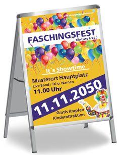 Moderne und farbintensive Plakate für dein Event #poster #plakate #onlineprintxxl #fasching #karneval #fest