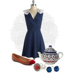 """""""#094: Tea & Lace"""" by eiluned on Polyvore"""