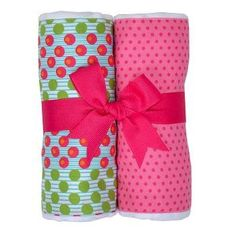 showermewithlove.com Set of 2 Burp Cloths - available in a variety of colors and patterns!