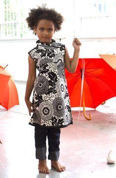 Redfish Kids Clothing Online Store - Mandarin Smock in B