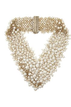 Then again, as the state-side saying goes, go big or go home. And this ROSANTICA pearl necklace will help you do just that.