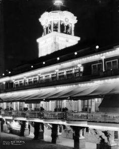 Casino and Casino Tower at night, Lakeside Amusement Park :: Photographs - Western History Denver Colorado, Denver Tv, Lakeside Park, Jefferson County, Mountain Photos, White City, World's Fair, Abandoned Places, Historical Photos