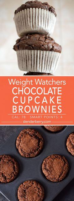 Weight Watchers Chocolate Cupcake Brownies Recipe - 4 Smart Points 78 Calories
