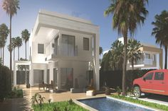 """Property Ref: W3931 Beautiful Detached villa, model """"Buganvilla"""", with plot and private swimming pool for sale in Orihuela Costa. This luxury property offers terrace, porch,3 bedrooms, 2 bathrooms, living/dining room, kitchen, utility room, WC, balcony, pre-installed air conditioning, 2 solariums, fitted wardrobes, double glazing, parking, structure in reinforced concrete, underfloor heating wth independant thermostat in each bathroom, optional under-build / garage. Price"""