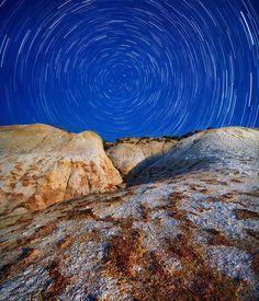 """Céu dominante""  #Rocha #montanha #estrelas #Stars #Perfect  Photo By Anna Anikina"
