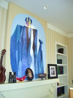 """Wall Mural for """"Up"""" themed nursery."""