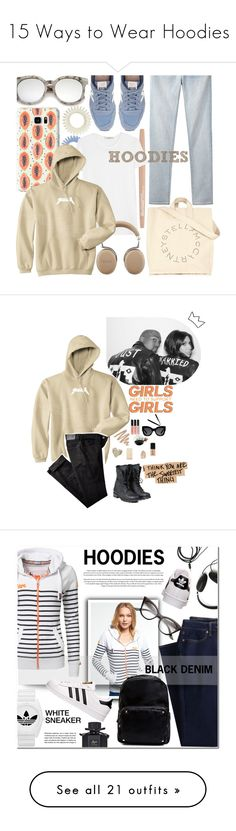 """""""15 Ways to Wear Hoodies"""" by polyvore-editorial ❤ liked on Polyvore featuring Hoodies, waystowear, New Balance, Smashbox, ADAM, Casetify, Proenza Schouler, STELLA McCARTNEY, ZeroUV and casual"""