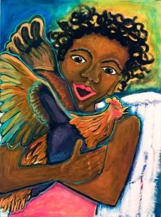 African American Art -  Angel