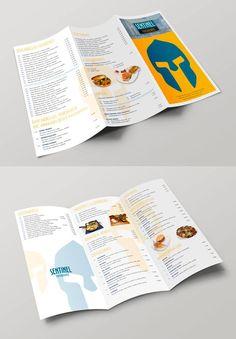 Nuevo diseño de carta menú de Sentinel en trípitco y con una bolsita interior donde pondrían las especialidades del día. #diseño #editorial Branding, Interior, Pink, Corporate Identity, Photomontage, Editorial Design, Design Web, Journals, Brand Management