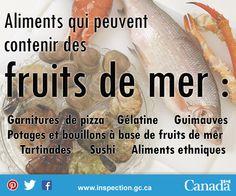 Si vous êtes allergique aux fruits de mer, ou connaissez quelqu'un qui l'est, lisez bien l'étiquette de ces aliments. Sushi, Les Allergies, Cream Soups, Marshmallow Yams, Seafood, Food
