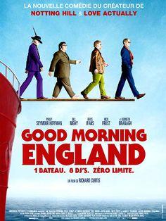 Good Morning England est un film de Richard Curtis avec Tom Sturridge, Philip Seymour Hoffman. Synopsis : Carl vient de se faire renvoyer du lycée, et sa mère a décidé qu'il irait réfléchir à son avenir auprès de son parrain, Quentin. Il se trouve que celu