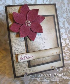 French Foliage Poinsettia by lpratt - Cards and Paper Crafts at Splitcoaststampers